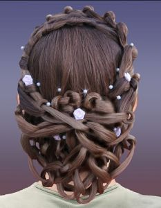 More chain-link braids. They're all different sizes and have been draped and crossed all over on another. Love the style!