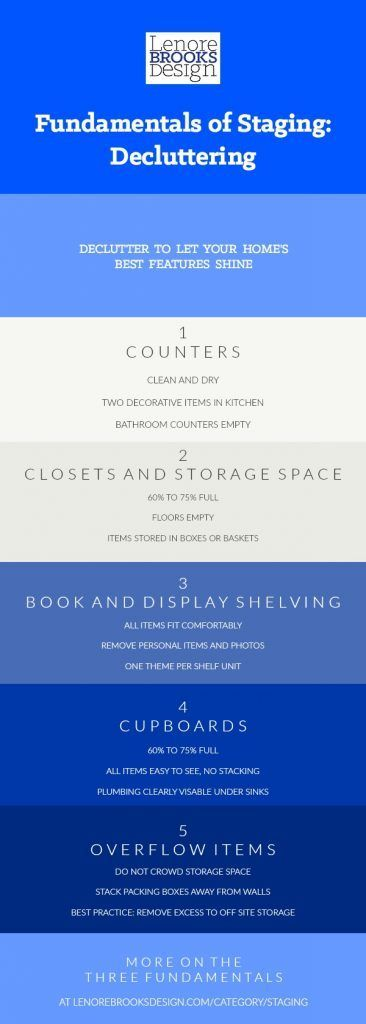 #Decluttering for #homestaging is a little different than doing it for yourself. Here I outline the key aspects of home staging specific decluttering. More than tidy, this is about letting your home look comfortable and well maintained, and letting its best features shine. #decluttermyhouse