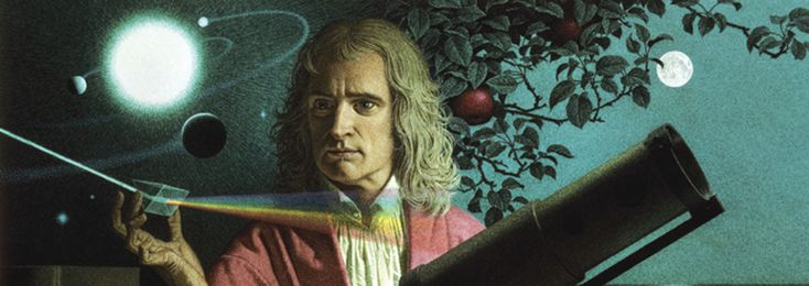 isaac newton. -> isaac newton is geboren op 4 januari 1643 in Woolsthorpe-by-Colsterworth en is gestorven op 31 maart 1727 in  Kensington -> appel verhaal. -> waarom valt de appel wel, maar de maan niet op de aarde. -> zwaartekracht. -> hij deed aan deductieve theorie, hij werkte verder op de theorie van Galilei. -> hij had, door te observeren en te redeneren, een algemeen geldende natuurwet opgesteld.