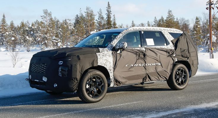 Spied: New Hyundai 8-Seater Full-Size SUV Coming In 2019 With Hybrid Options #news #Hyundai