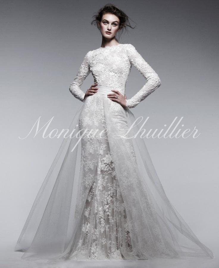 17 best images about monique lhuillier on pinterest fall for Monique lhuillier wedding dress designers