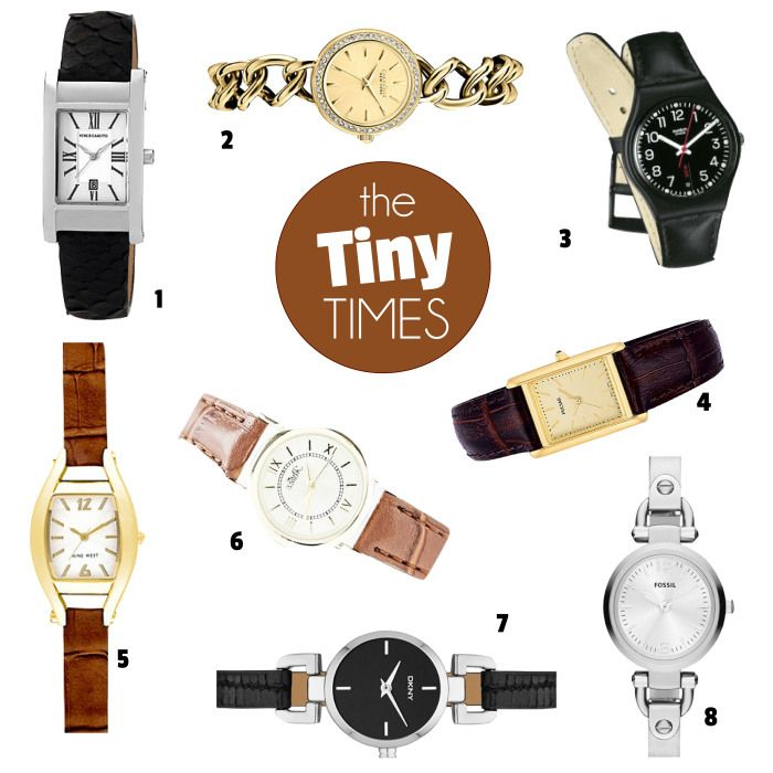 The Tiny Times! | www.fatfreefashion.com #watches #style