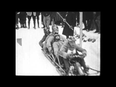 Highlights of the Bobsleigh contest from the 1924 Winter Olympics. The Swiss took gold that year.