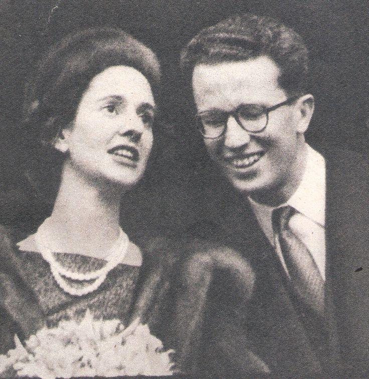 Le Roi et Dona Fabiola en 1960 à Anvers. revue : Le Patriote illustré