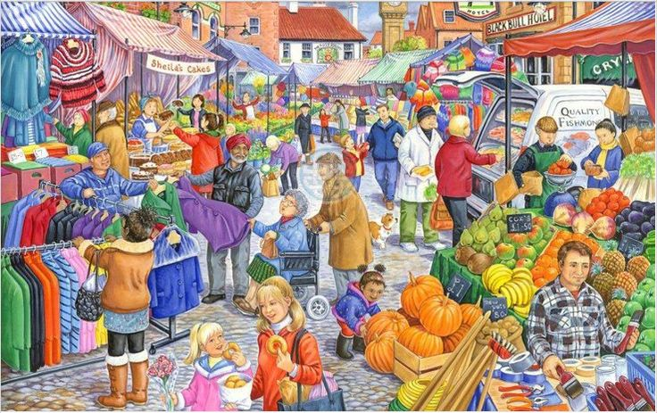Interactieve praatplaat De markt by Marita Teunisse