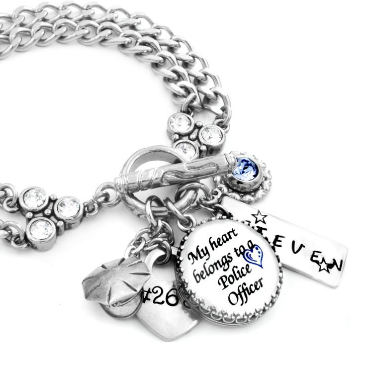 Police Bracelet, Officer Jewelry, Police Officer Wife, Police Badge, Law Enforcement Gift, Police Officer Mom, Police Jewelry