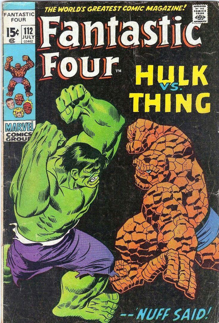 FANTASTIC FOUR #112 Marvel Comics 1971 Hulk/Thing Harkness/Masters Lee/Buscema