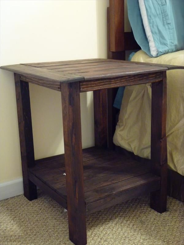 Shipping Pallet End Tables Do It Yourself Pallet Furniture Diy Project Central Pinterest