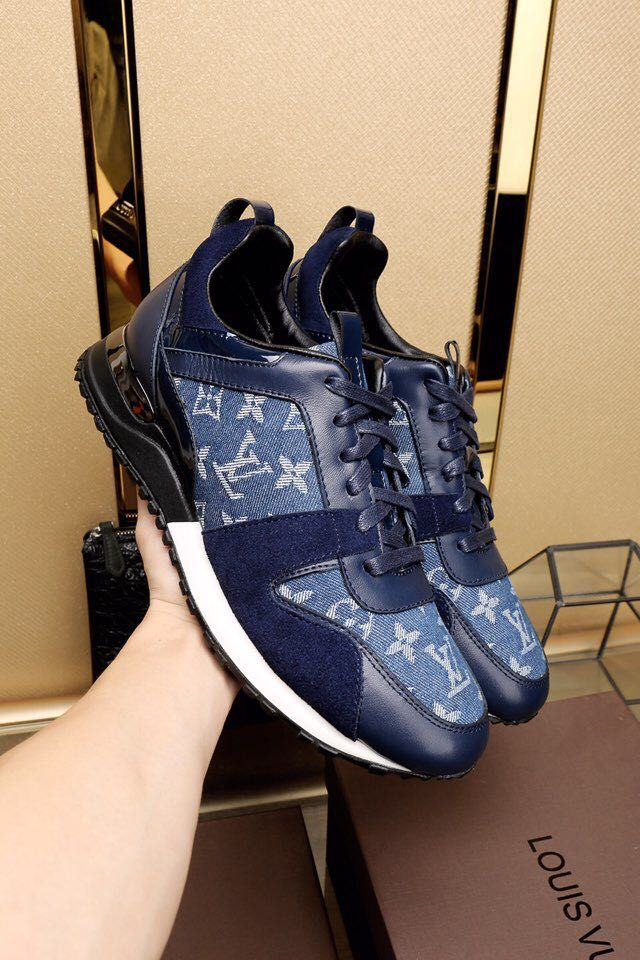 Replica Louis Vuitton Sneakers Run Away For Men Leather Size 38-45 ID:36177