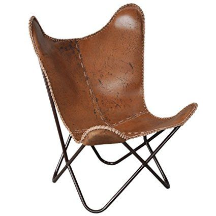 Amazon.com: Pelle Anti-Brown Butterfly Chair: Casa e cucina