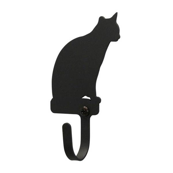 These Medium unique wrought iron wall hooks form a functional and decorative accent to any home. Available in a variety of silhouettes to suite any home.