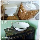 Hometalk :: Vanities for Small Bathrooms: Easy Installation in Less Than One Hour