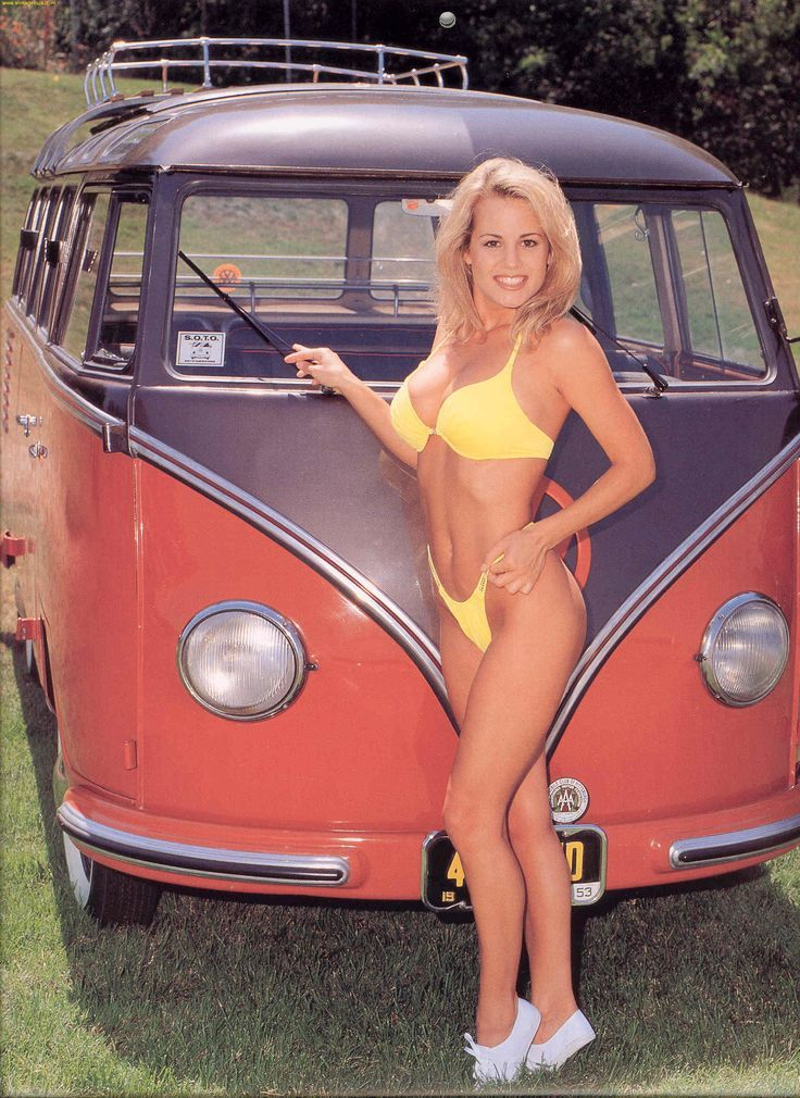 beautiful bikini bus babes vw bulli kombis