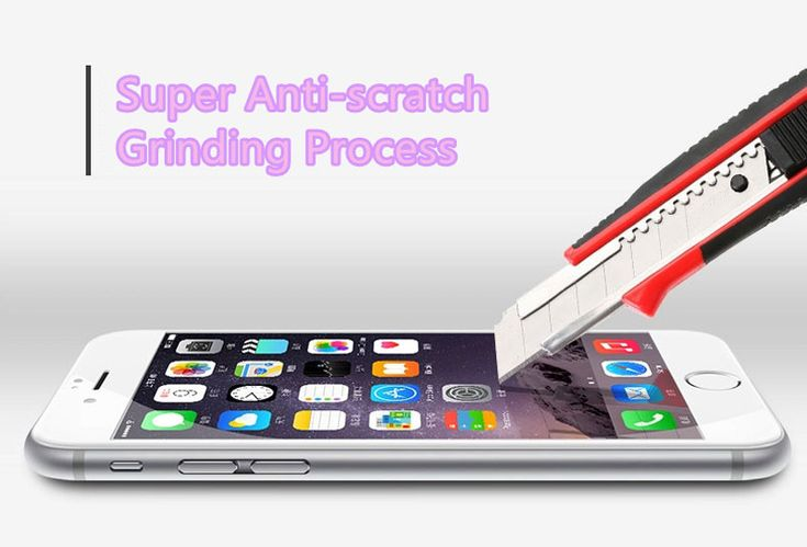 Cheap Metal White Glass Screen Protector iPhone 6 And 6 Plus IPASP03_7