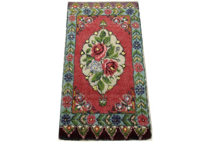 Doormats Turkish rugs handmade 3,2 x 1.6 Feet Organic Vintage bathmats Small size rugs Rustic Rug Pattern rug natural dye wool rug HY-43 by stripepattern on Etsy