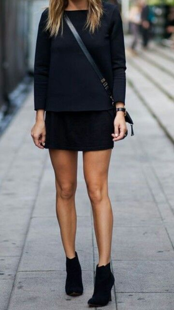booties with a skirt or jumper dress always looks great paired with a cross body bag...x