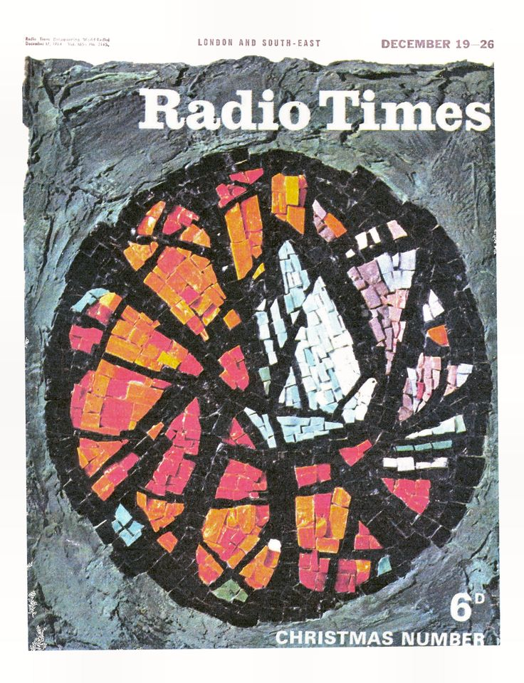 Behind Door #6 - to be honest we still aren't entirely sure what this cover from 1964 shows. We're fairly sure it's a mosiac in the style of stained glass, but as for what it shows, answers in the Christmas stocking please! Is it a sail boat maybe?