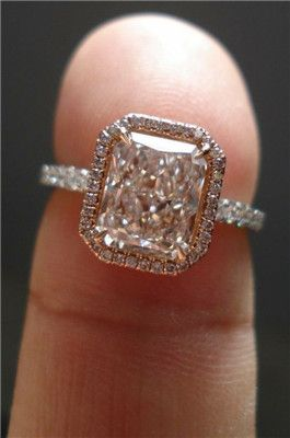 Wedding ring but white gold! BEAUTIFUL!