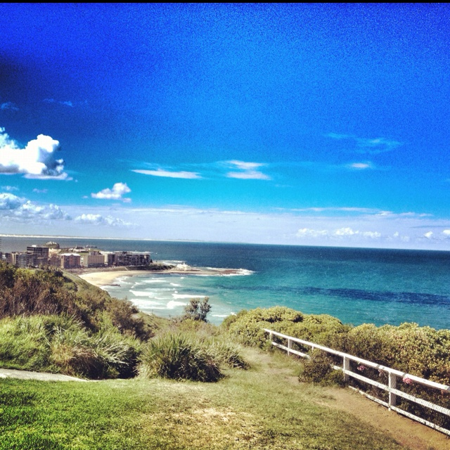 Newcastle Beach from on high.