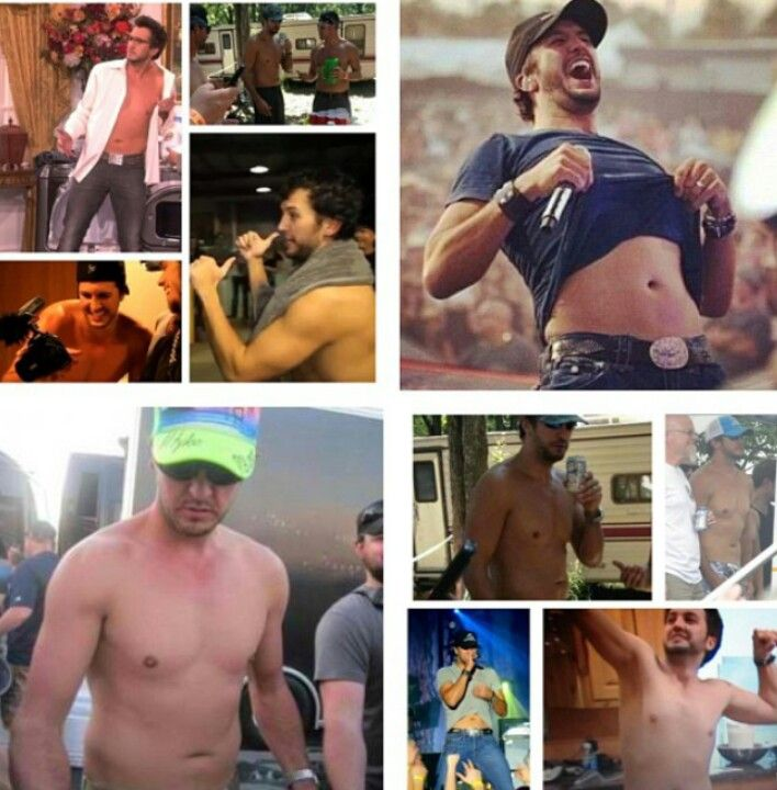 Luke Bryan shirtless  = britni having a stroke!