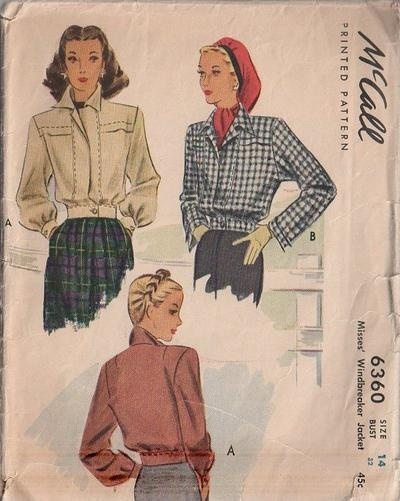 17 Best images about Vintage Coats, Jackets & Outerwear Patterns ...