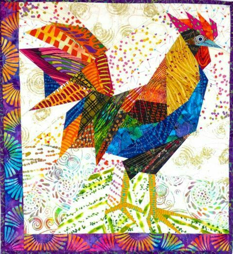 25 best Rooster quilts images on Pinterest | Crafts, Molde and ... : rooster quilt patterns - Adamdwight.com