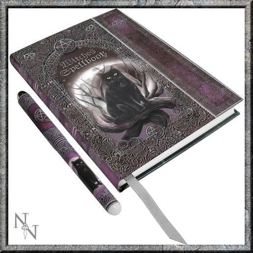 Kniha stínů s perem fantasy - Kočka s pentagramem - eshop Bombastus