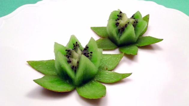 Une façon originale et jolie de présenter un kiwi…...