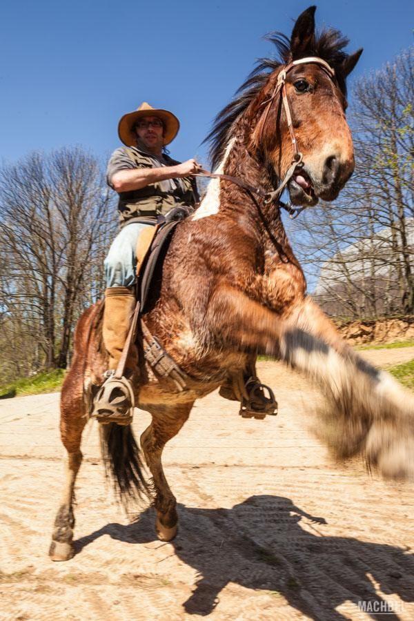 Guía haciendo un caballito Paseo a caballo con fotografia by machbel