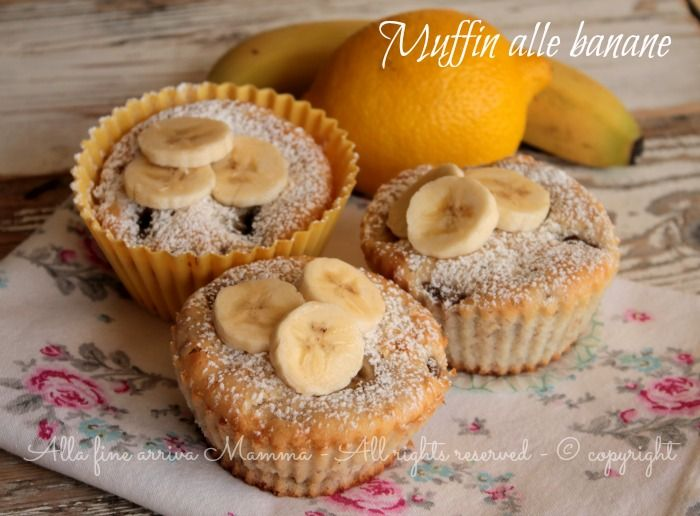 Muffin banane sani e genuini