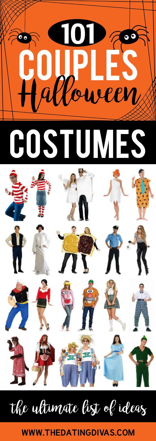 Over 100 Couples Halloween Costumes! SOOOO much fun and clever themed Halloween costume ideas for couples!