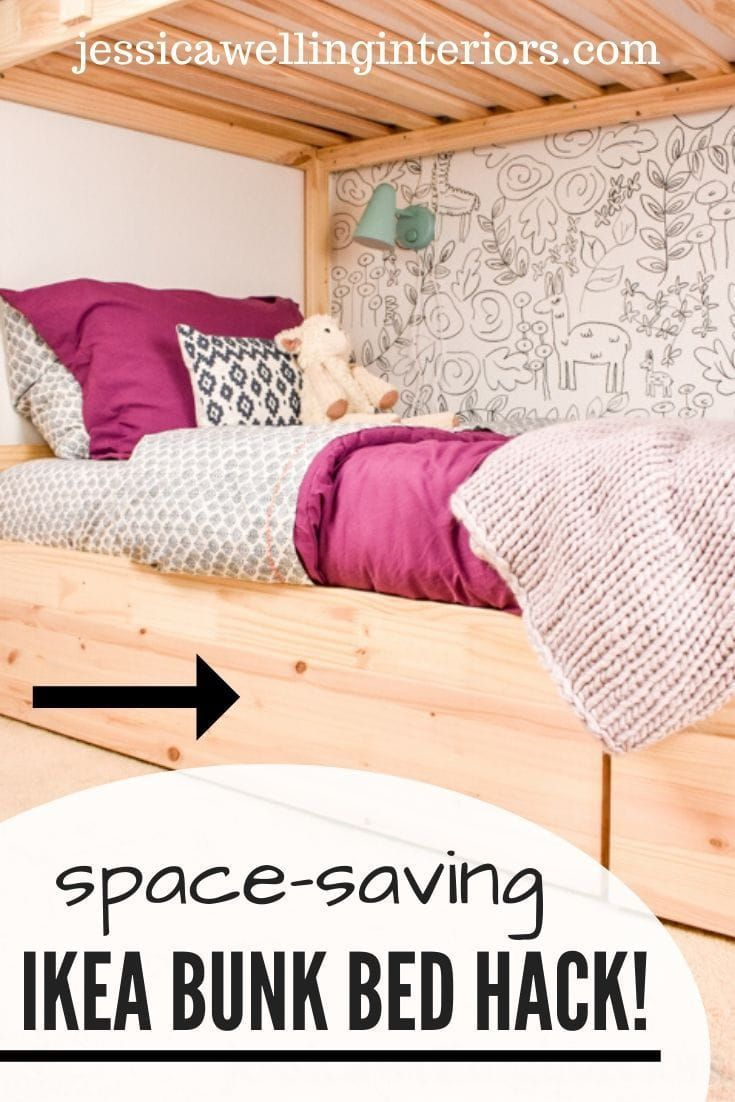 Under Bed Storage For Kids A Simple Ikea Hack Jessica Welling Interiors In 2020 Ikea Bunk Bed Storage Furniture Bedroom Ikea Bunk Bed Hack