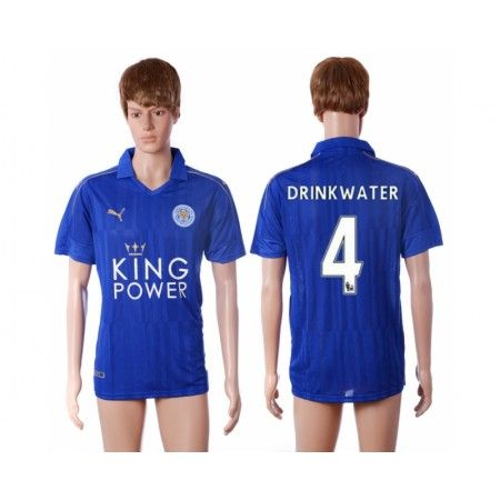 Leicester City 16-17 #Drink Water 4 Hjemmebanetrøje Kort ærmer,208,58KR,shirtshopservice@gmail.com