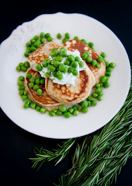 Garlic-Chive Goat Cheese + Whole Wheat Rosemary Pancakes + Fresh Peas: Rosemary Pancakes, Wheat Rosemary, Marketing Open, Farmers Marketing, Garlic Ch Goats, Fresh Peas, Peas Recipes, Goats Cheese, Goat Cheese