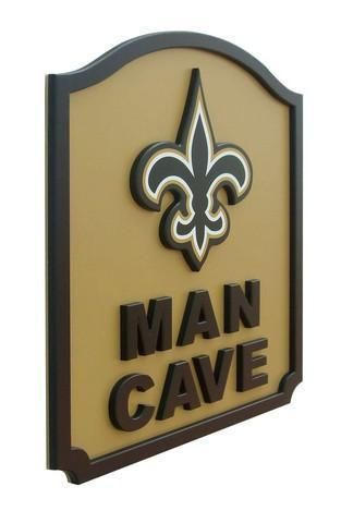 New Orleans Saints Man Cave Shield Art Sign