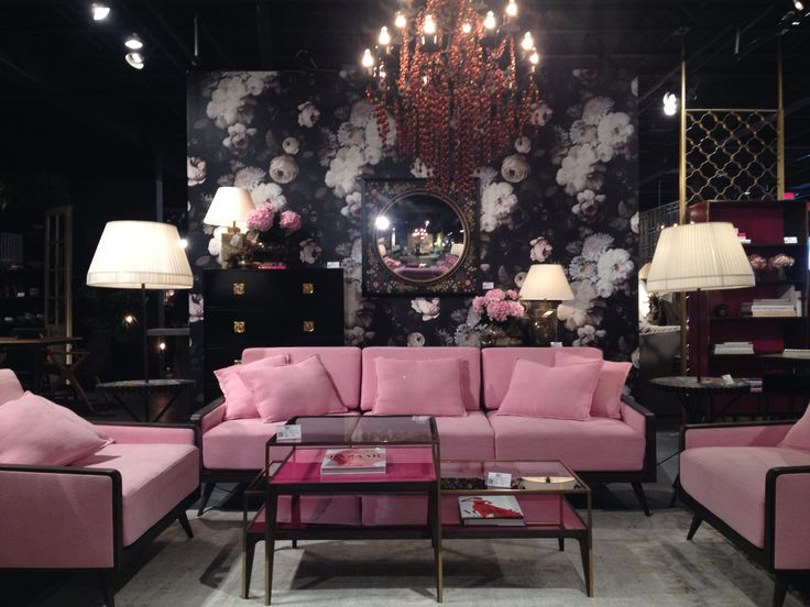 Divine pink sofa and chairs