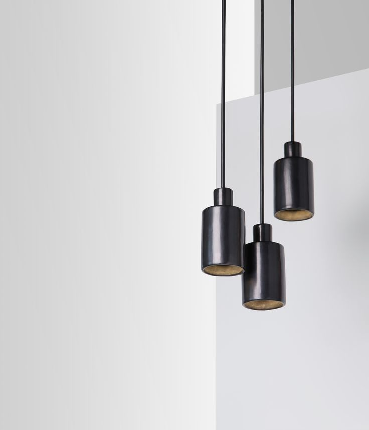 minimal lighting. can pendant lamp design by davidpompa barro negro black pottery from mexico ffe minimal lighting