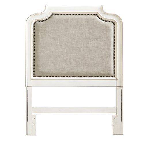Dreams do come true with Madison. This collection is crafted with a warm cream finish with rounded edges and framed panels. The feminine styling perfect for any young girl. The twin headboard has an upholstered bolster interior panel that is outline in a detailed nail head trim. The headboard is... more details available at https://furniture.bestselleroutlets.com/children-furniture/bed-frames-headboards-footboards/product-review-for-pulaski-madison-girls-youth-upholstered-bed