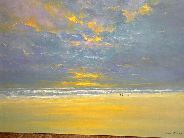 Beach 2 R7500 Oil on canvas board