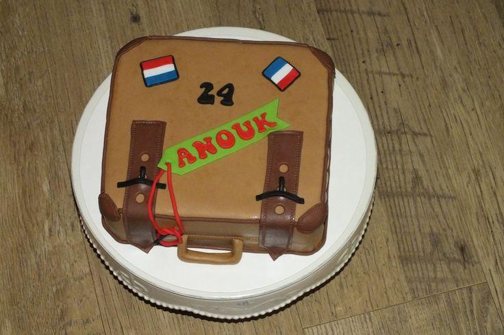 bovenkant koffer taart