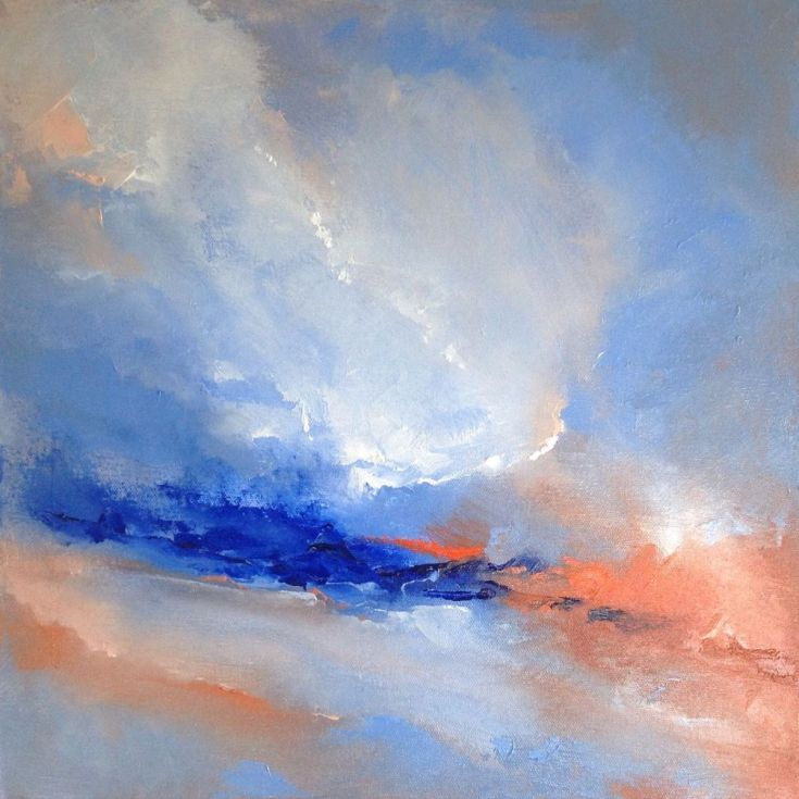 ARTFINDER: Abstract Clouds by Dan Wellington - I paint skies a lot in my landscape work, so it's an area I wanted to explore further. This painting was inspired through my observations of clouds, light an...