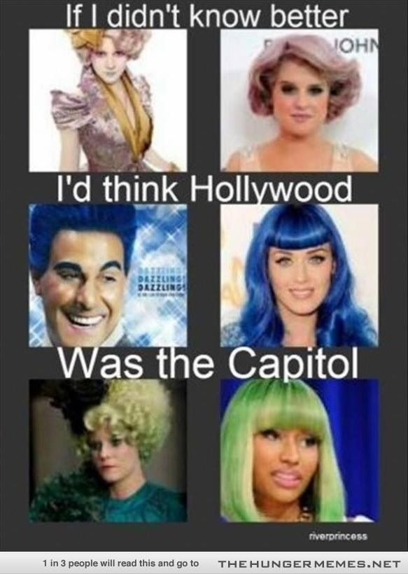 Lol haha funny / Hunger Games Humor / Capitol Fashion
