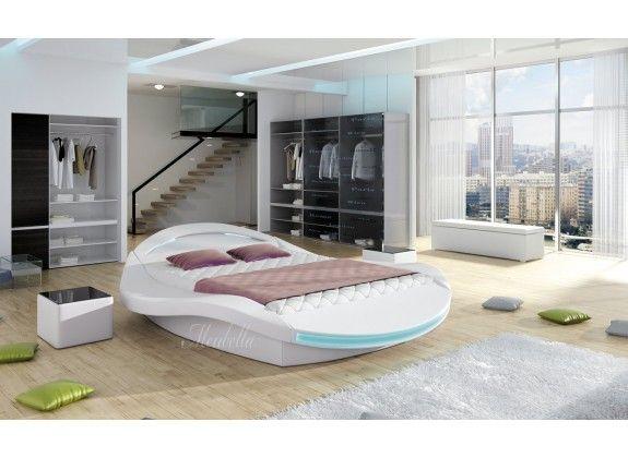 Meer dan 1000 idee n over ronde bedden op pinterest bedden droomhuizen en lederen bed - Modern hoofdbord ...
