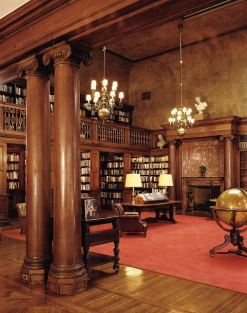 147 best Book: Private Libraries images on Pinterest