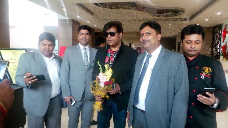 Actor and television personality Ravi Kishan@ Hotel the Panache Patna