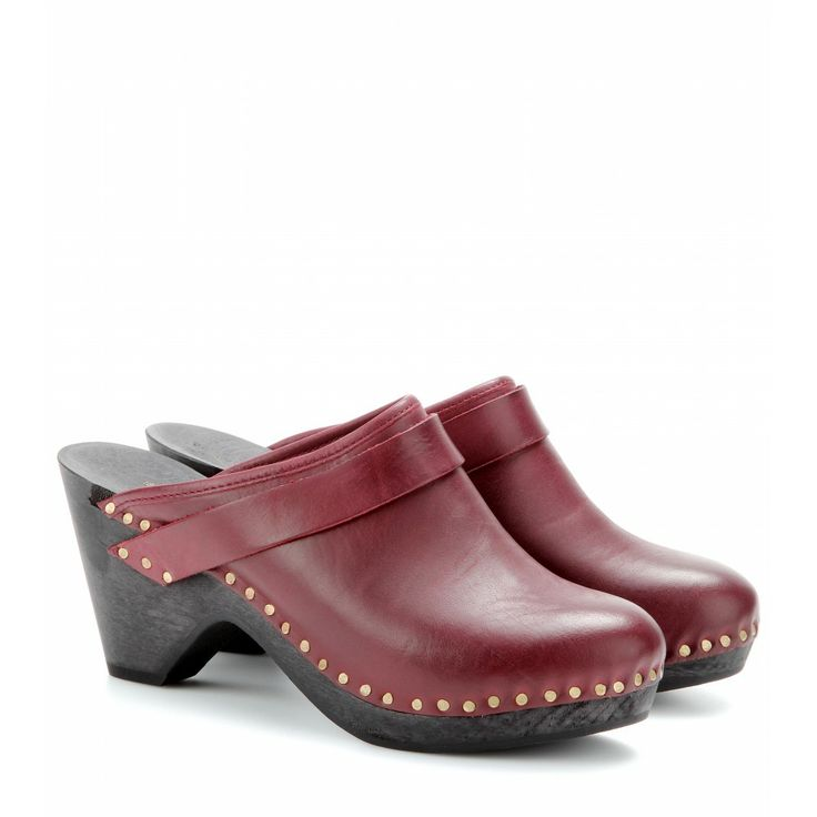 mytheresa.com - Towson leather clogs - wedges - sandals - shoes - Luxury Fashion for Women / Designer clothing, shoes, bags