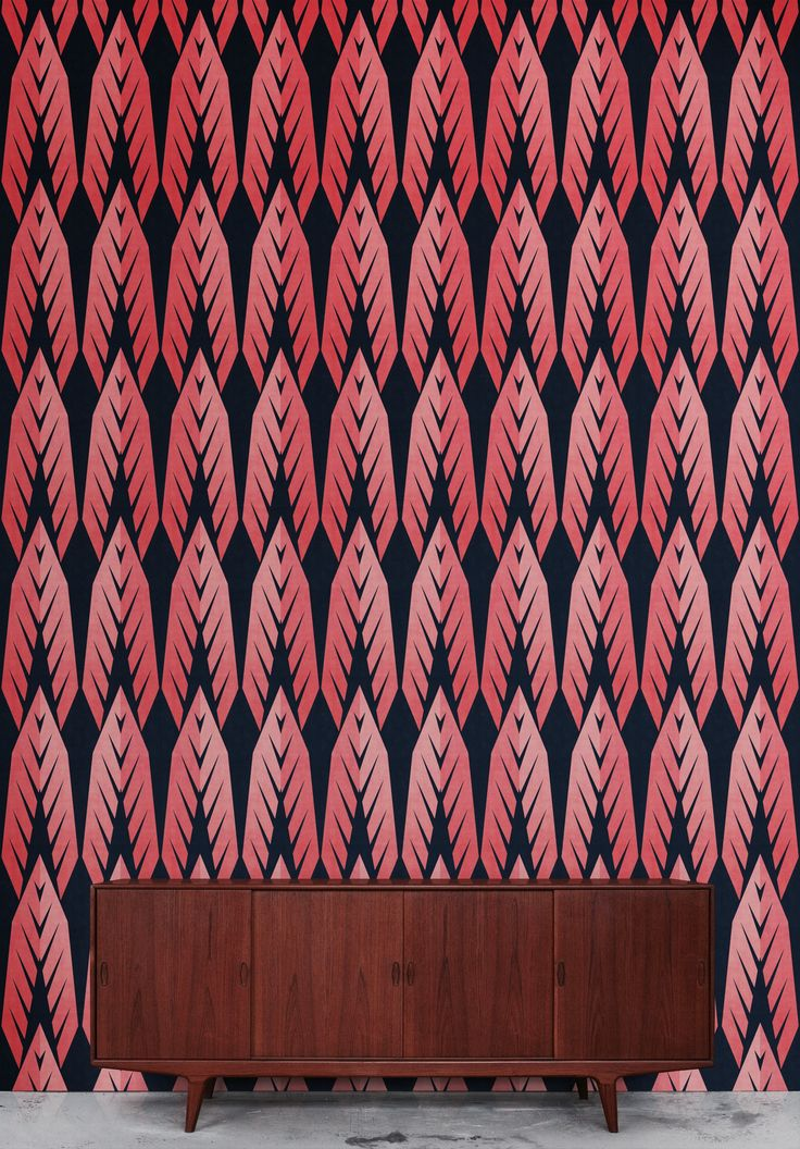 #Rumruk #Wallpaper #IndianAutumn #Navy #Blue #Pink