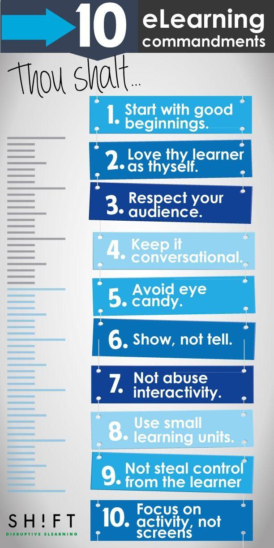 10 #eLearning Commandments