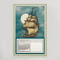 HAMMERPRESS | Clipper Ship 2014 Calendar