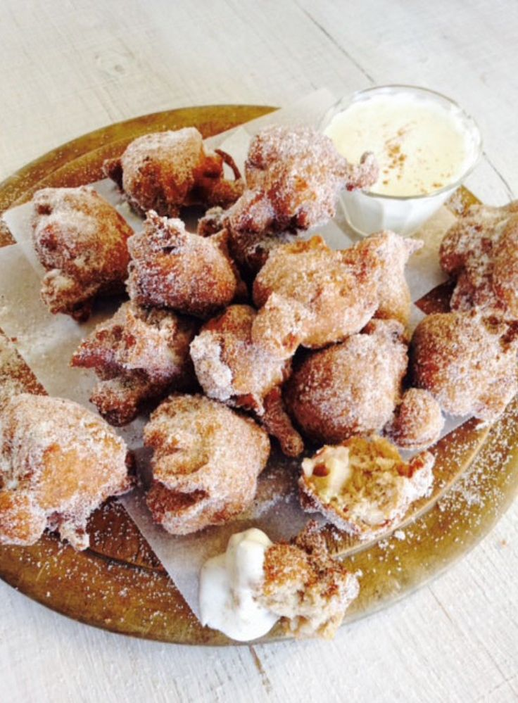 These easy, light puffs of deliciousness are a real treat for those having to stay away from gluten (or not). They have little nuggets of warm feijoa and I love to serve them with a vanilla bean custard for dipping.